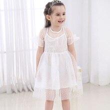Girl Clothes Summer Dress Polka Dot Print Fashion Vestido Infantil Childrens Wear 2-8 Y Child Quality Clothing 2019 Hot Sale
