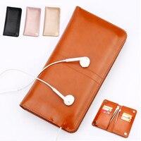 Slim Microfiber Lederen Bag Telefoon Case Cover Wallet Purse voor Acer Liquid Z220 M220 Z410 voor Prestigio Grace Z5 PSP5530DUO