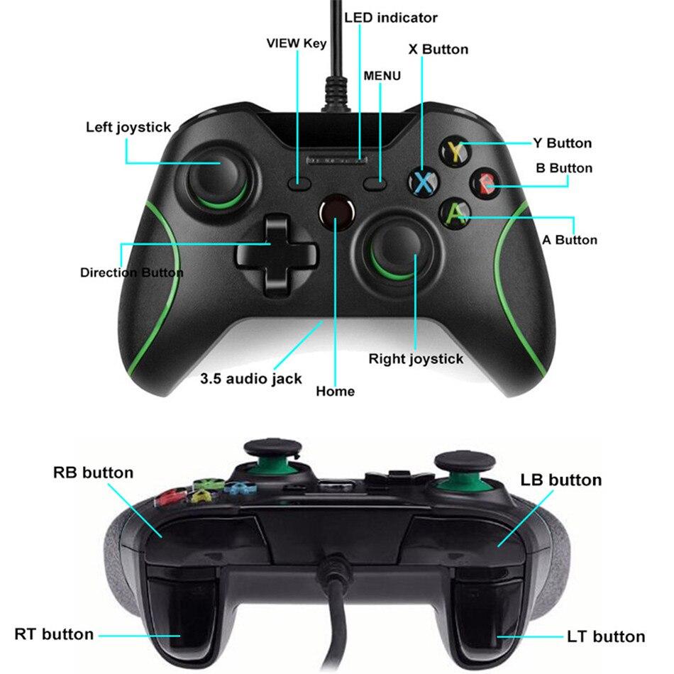 Microsoft xbox one s wired controller zwart (windows 10)   Xbox