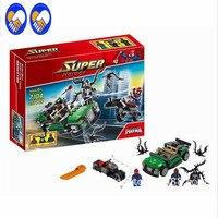 237pcs Decool 7104 Marvel Super Heroes Ultimate SpiderMan Building Blocks Set DC Minifigures Bricks Compatible Legoe