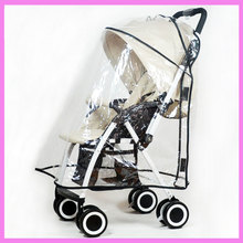 PVC Baby Stroller Rain Cover Raincoat Wind Dust Sand Prevention Baby Car Seat Cover Rain Coat Stroller Pram Accessory New!
