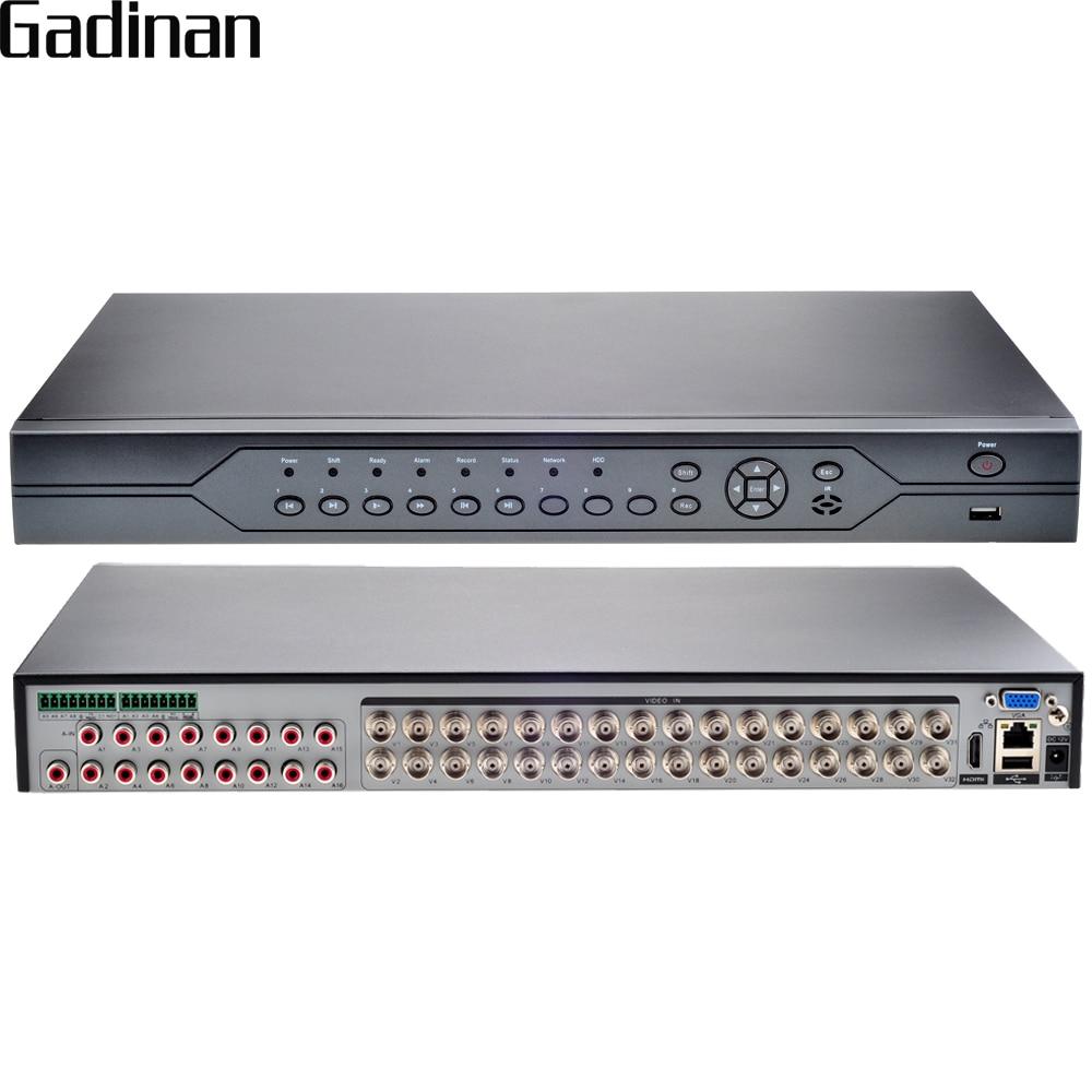 GADINAN AHD NH 1080N 32CH AHD DVR 5 in 1 Hybrid DVR PTZ RS485 and RS 232 Cloud Support 3G Wifi CMS ONVIF 2HDD Port Max 6TB/Per