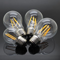 New Dimmable E27 LED Filament Light Glass Housing Bulb Lamps 220V 4W 8W 12W 360 Degree Retro Dimming Candle Lighting Edison