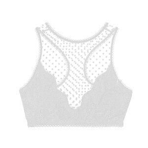 Image 5 - נשים רשת חלול החוצה טלאי חזיית גופיות אפוד יבול חולצות Bralette סוודר חזיית Wirefree גבוהה תמיכה Bodycon Slim בגדים