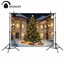 Allenjoy Рождество Tree House подарки зимние на открытом воздухе фон для ребенка для фотосессии Fotografia фотофон