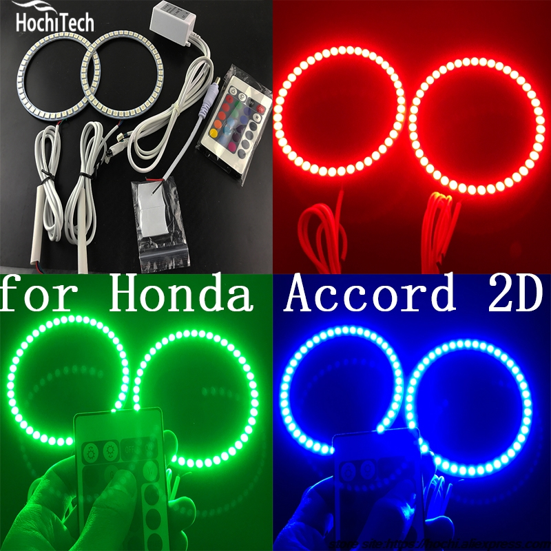 Excellent RGB LED colorshift headlight halo angel demon eyes kit for Honda Accord coupe 2008 2009 2010 2011 for honda odyssey 4th g rb3 rb4 chassis 2008 present excellent ultrabright headlight illumination ccfl angel eyes kit halo ring