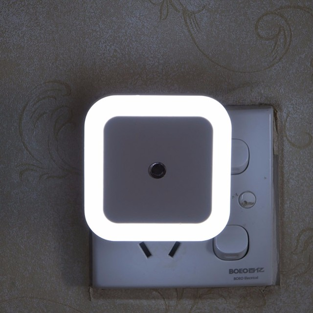 Beautiful US EU Plug Mini LED 0 5W Night Light Motion Sensor Baby Bedroom Sleeping Lamp Review - Luxury led motion sensor Photos