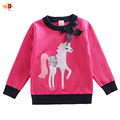 AD 5pcs/lot Beautiful Unicorn Girls Sweaters for Autumn Spring Basic Tops for Winter Kids Clothes Children's Clothing