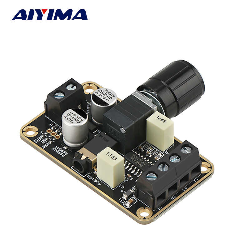 Aiyima 2.0 CH PAM8406 Digital Amplifier Audio Papan 2*5 W Audio Stereo untuk DIY Speaker Amp DC Aksesoris 5 V