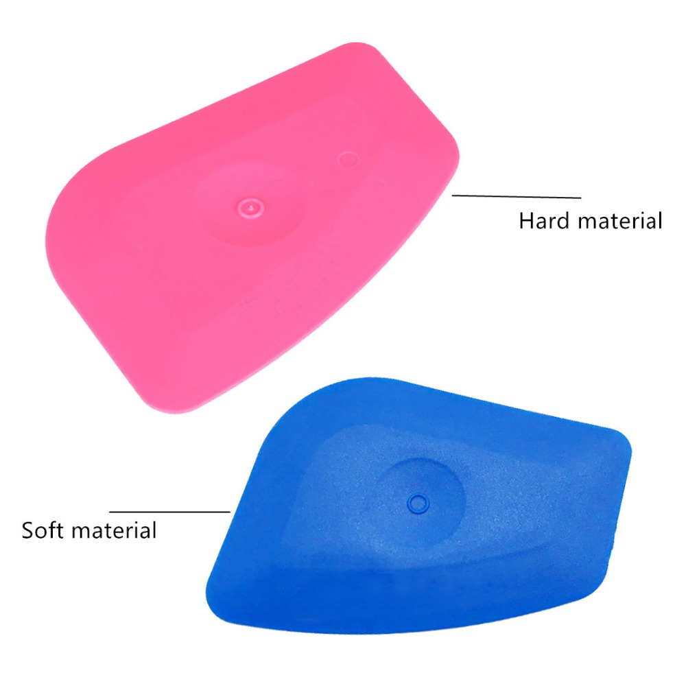 2pcs-multilateral-mini-pink-abs-squeegee-corner-scraper-vehicle-film-window-tint-glass-decal-applicator-car-headlight-tools