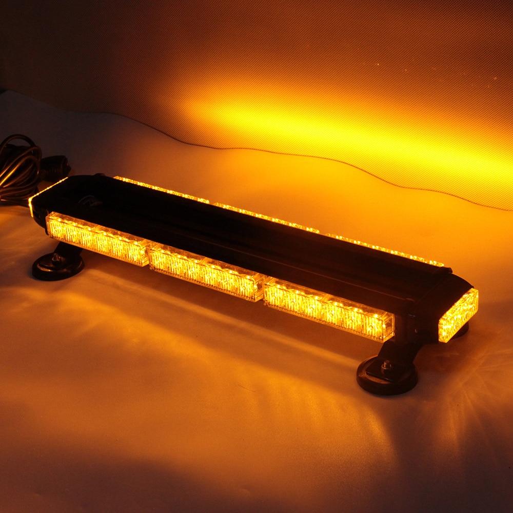 Новый тип светодиодная вспышка света бар Янтарный цвет Строб Лампа 12V аварийный световой сигнал наивысшей мощности