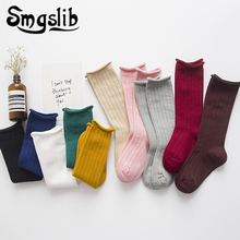 Candy Color Kid Socks For Toddler Girls Spring Summer Baby Boys Cotton Warm Boot Sock 1-10t Dropshipping