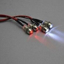4 шт. RC модель Дрифт автомобиль светодиодный ночник 5 мм и 3 мм фары светодиодные фары головного света светодиодный для RC автомобиля