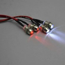 4 stuks RC Model Drift Auto LED Night 5mm & 3mm koplampen koplampen LED Licht LED Voor RC auto(China)