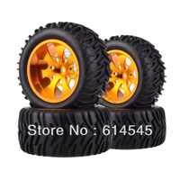 4xRC camión monstruo Bigfoot de 1:10 de llanta de rueda de neumáticos y neumáticos 12MM 88112