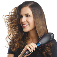 Straight Hair Brush Ceramics Comb Type Electrothermal Brush Safe PSE Certified HJL2018