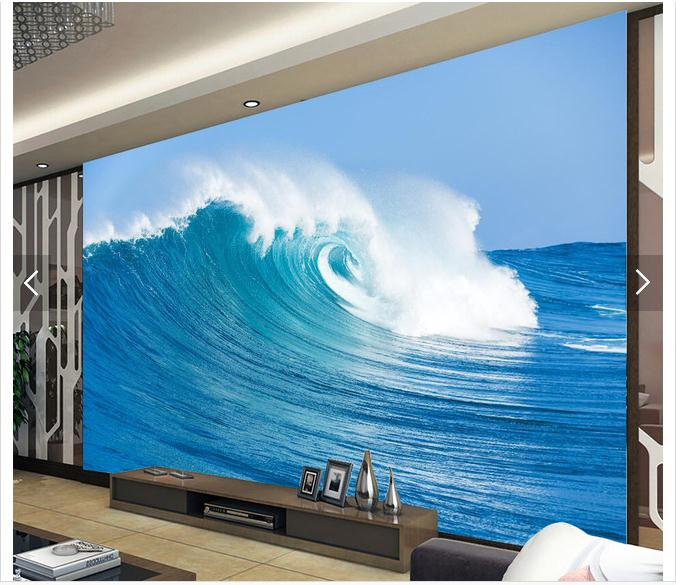 3D photo wallpaper custom 3d wall tv wallpaper murals Surf the waves