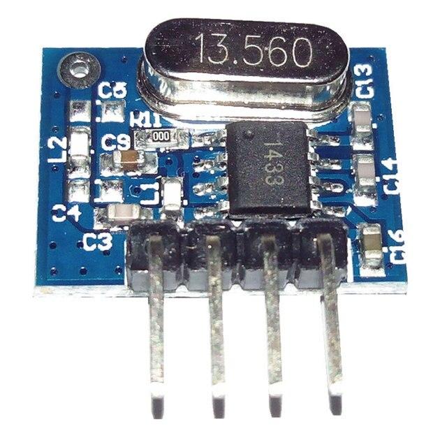 1 ensemble superhétérodyne 433Mhz RF émetteur et récepteur kit de Module petite taille pour Arduino uno kits de bricolage 433 mhz télécommandes 2