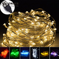 LED USB Copper String Lights colorful lighting holiday Christmas lights DC5V USB home decoration led strip copper lights