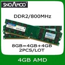 Оптовая Новый Бренд РАМС 2 ШТ./ЛОТ 8 ГБ = 4 ГБ + 4 ГБ DDR2 800 МГц PC2-6400 DIMM Памяти для Настольных ПК БАРАНОВ Для AMD Системы