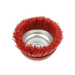 "Image 3 - 1 piece 115* M14 Cup Nylon Abrasive Brush Wheel P80 Pile Polymer abrasive 4.5"" Angle Grinder Tool"