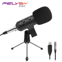 FELYBY new adjustable bm 900 USB microphone for computer recording & professional condenser microphones video room karaoke