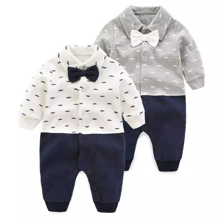 Newborn Baby Boy Rompers Autumn Kids Gentleman Clothes Long Sleeve One Pieces Baby Jumpsuits Bebes Brand Clothing for Baby Boys autumn winter baby rompers children clothing set newborn clothes bebes microfleece long sleeve girl clothing infant jumpsuits