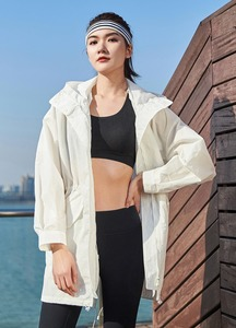 Image 5 - Xiaomi Uleemark של ארוך לבן תעלת מעיל IPX5 עמיד למים קרם הגנה בגדי אופנה הסווטשרט רוח