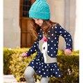 Girls Clothes Polka Pot Girls Shirt Dress Autumn Children Tunic Long Sleeve Fawn Girls T shirt Cotton Kids Tops Girl Dresses