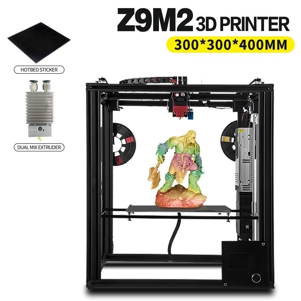 ZONESTAR plein métal grande taille cadre en aluminium imprimante 3D Impressora kit de bricolage Dule extrudeuse mélange couleur niveau automatique Laser gravure