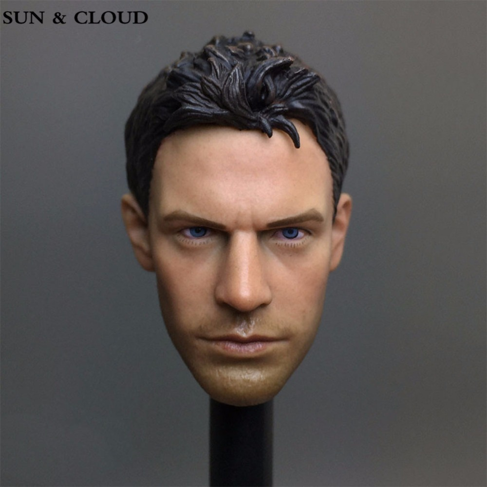 SUN & CLOUD 1/6 Scale Biohazard Resident Evil Chris Head Sculpt Cool Male Star Head Carving Model Fit 12Collectible Doll Toys 1 6 action figure accessory loki head sculpt cool male star headplay verisimilitude carving model fit 12 collectible doll toys f