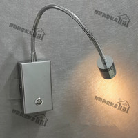 Topoch Flexible Wall Lights for Luxury Hotel RV Boats Chrome Finish 15% 100% Brightness Dimming 3W CREE LED 2 Year Warranty