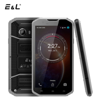 E&L W8 Unlocked 4G LTE Smartphone 5.5 Inch Android 6.0 MTK6753 Octa Core 2+16 Waterproof Shockproof Phone IP68 Mobile Cell Phone