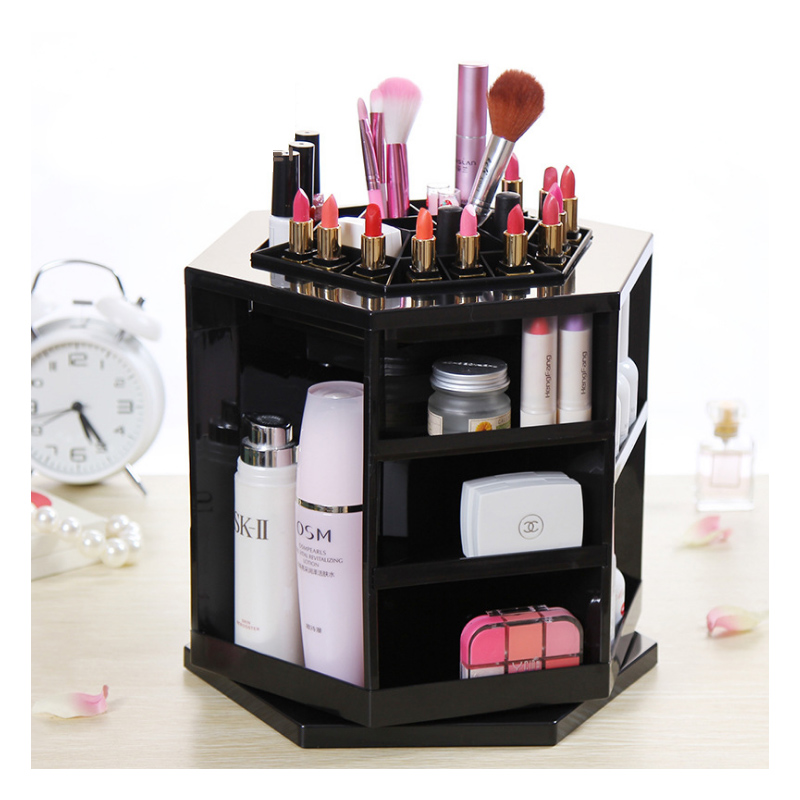 Jewelry, Box, Makeup, Rotate, Cosmetic, Storage