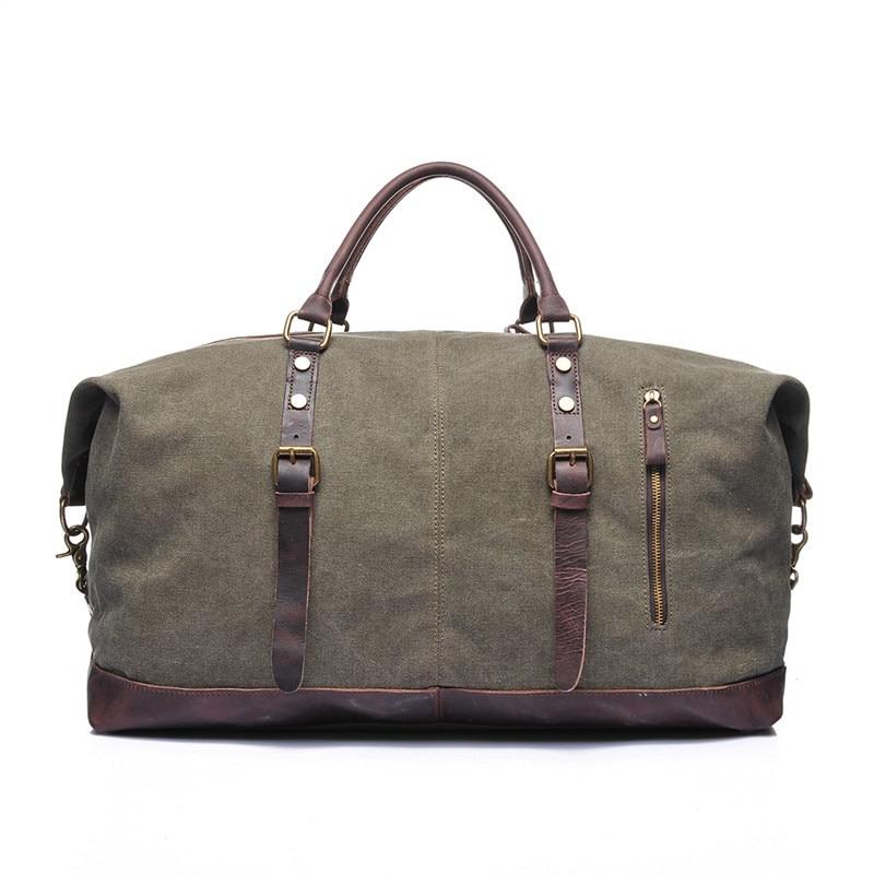 все цены на Nesitu High Quality Big Large Capacity Grey White Khaki Army Green Vintage Canvas Men Travel Bags Men Messenger Bags #M2077