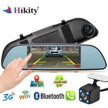 Hikity dash camera car dvr dual len rear view mirror auto dashcam recorder registrator Full HD Android Parking Monitor Mirror
