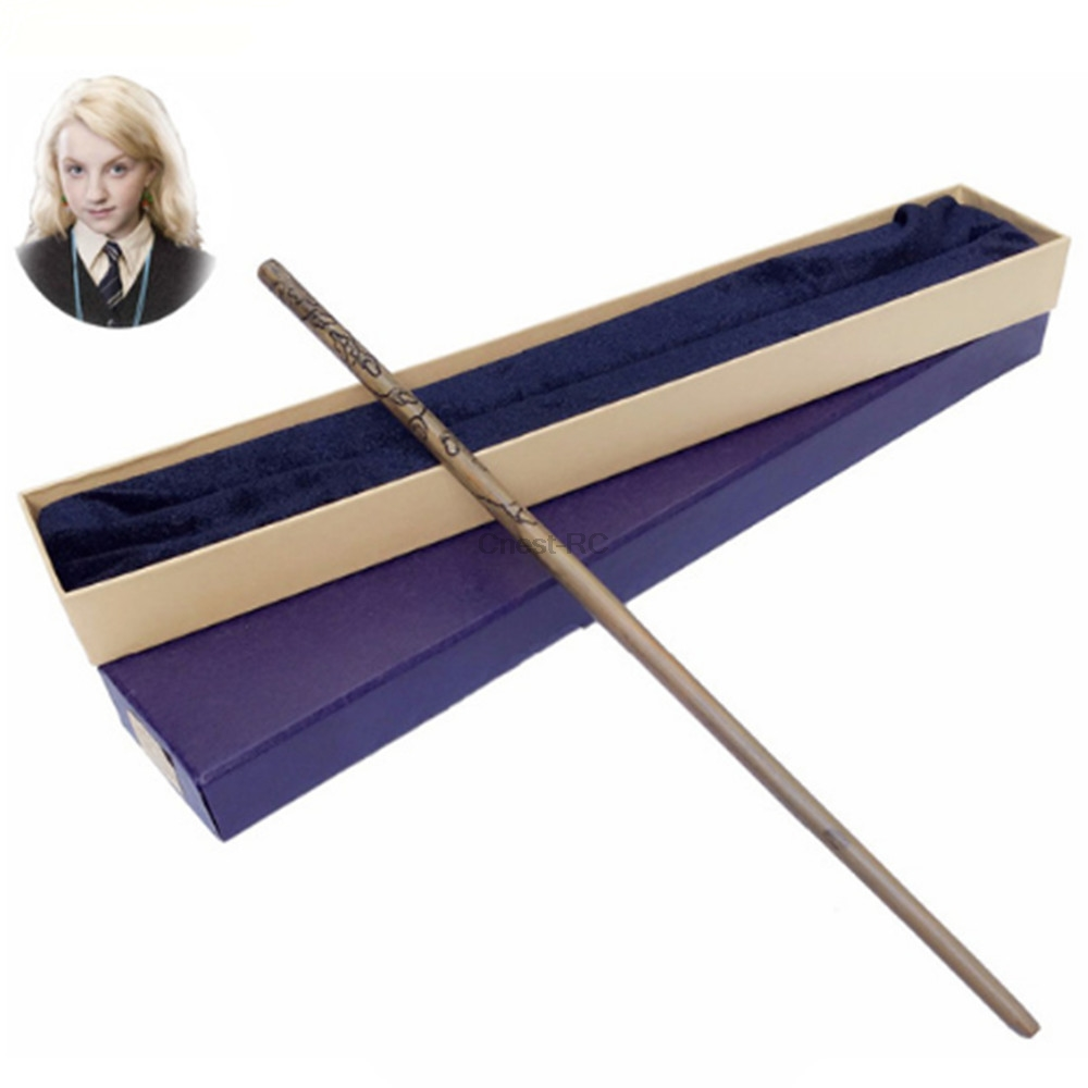 Harry Potter Magical Wand Metal Core Luna Lovegood Magic Wand Colsplay Magical Wand Gift Box Packing