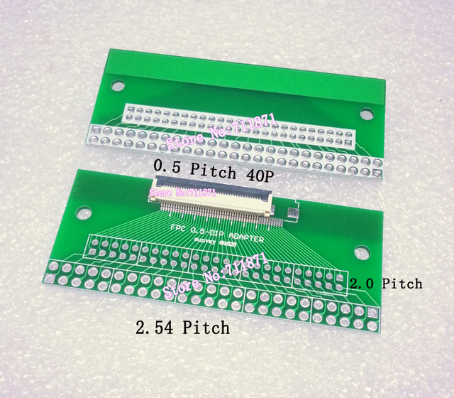 0.5 Pitch 40P FPC DIP Adapter Plate Spacing 0.5 Pitch FFC 40Pin DIP Connector 0.5 FFC FPC 40P 2.0 2.54 DIP Weldable connecter