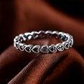 Аутентичные стерлингового серебра 925 Обручальные Кольца Выдалбливают Сердце Женщины Кольцо Совместимость Европейский Fit Pandora Оригинальные Кольца R44