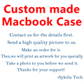 Custom made Hard Case For Macbook Air 11 12 13 Pro 13 15 Retina Bag Touch Bar Customized Matte Draw Print Marble Cover DIY Shell