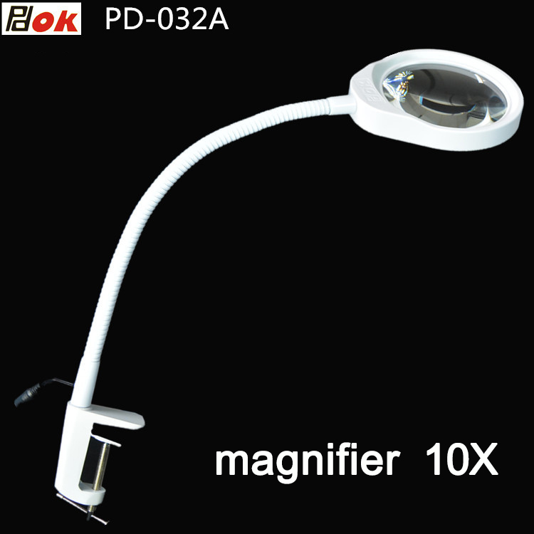 Magnifying Glass LED Light 10X Magnifier Repair Tools, Magnifiers Loupe Desktop Magnifier light crafts glass lens led desk magnifier lamp light 10x magnifying desktop loupe repair tools with usb free shipping
