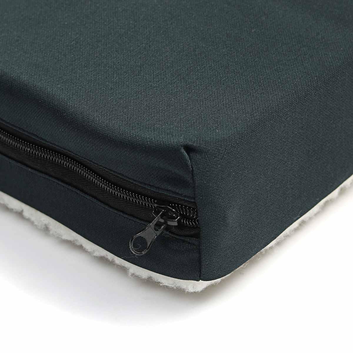 Coussin de siège en mousse à mémoire de forme Gel court en peluche polaire Solution de siège pour fauteuil roulant oreiller pour siège de voiture de bureau - 5