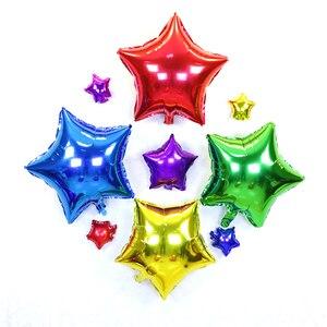Image 3 - Gorący bubel 5 sztuk 18 cal balon z helem gwiazda ślub duże balony z folii aluminiowej nadmuchiwany prezent dekoracja urodzinowa piłka