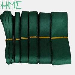 Nouvel article, rubans imprimés à gros grain, 5yards/lot, 7 10 15 20 25 38mm, couleur vert foncé, décoration de fête de mariage, emballage bricolage-même