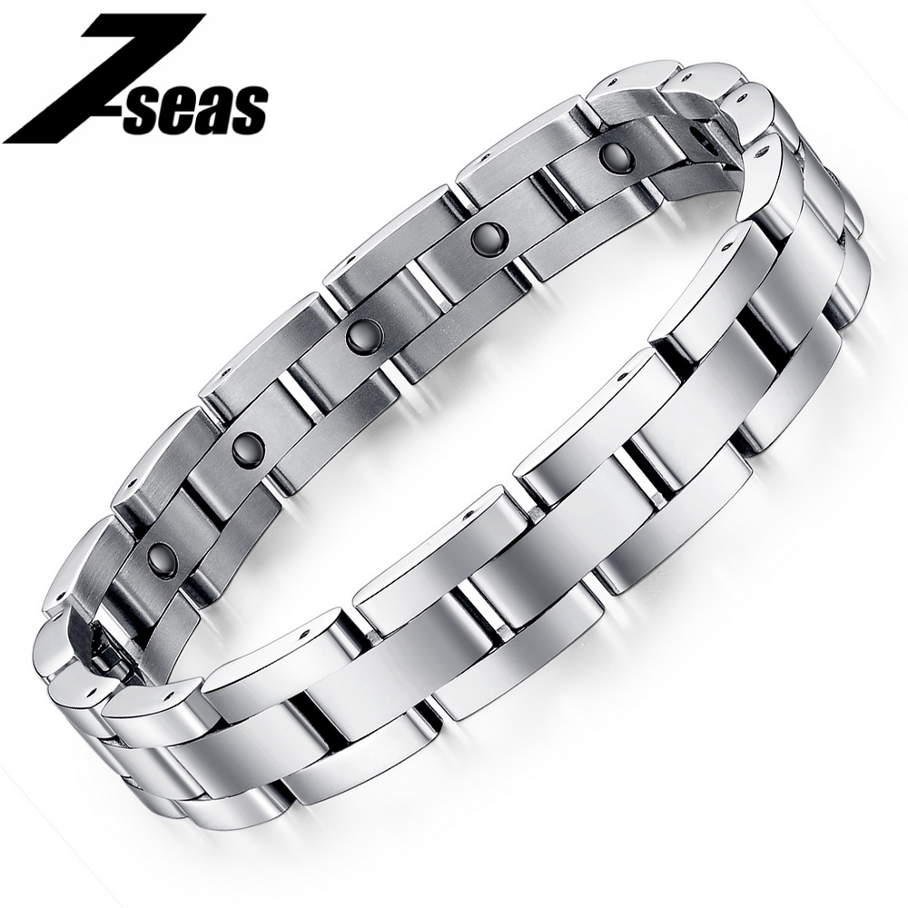 Tourmaline Energy Balance Bracelet Health Care Jewelry Women Germanium Magnetic Bracelets & Bangles 8012 - Fashion 7-seas store