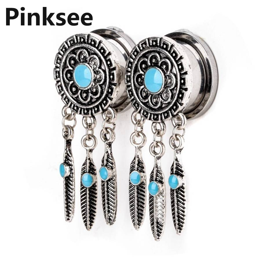 Wholesale Pack 24 pcs Stainless Steel Jeweled CZ Flesh Tunnel in Assorted Sizes