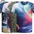 Мужская футболки 3D Цифровой Одна Сторона Печать футболки мужская рубашка с коротким рукавом О Шеи Печатный Рубашки Моды Топы тис TX84-R1