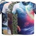 T-shirt dos homens 3D Digital One Side Printing camisetas camisa dos homens de manga curta O Pescoço Impresso Camisas Moda Tops Tees TX84-R1