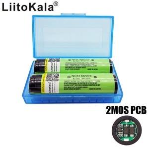 Image 3 - Новые оригинальные перезаряжаемые литий ионные батареи LiitoKala 18650 NCR18650B 2 шт./лот 3400 мАч с печатной платой Бесплатная доставка