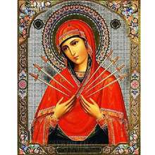 5d diy diamond painting virgin Mary cross stitch,rhinestones,needlework,full square embroidery mosaic 3d picture